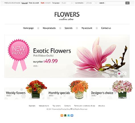 flower design website blossom of your online store top 40 flower shop templates