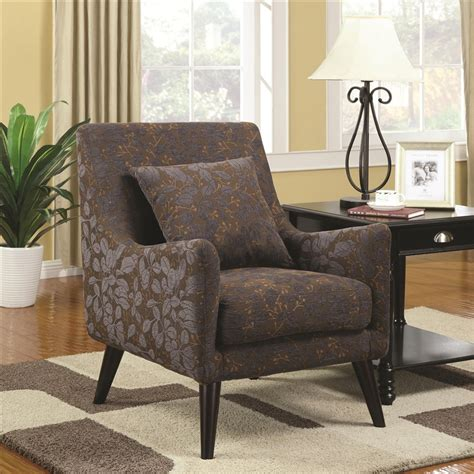 leaf pattern accent chair leaf pattern fabric accent chair by coaster 902086