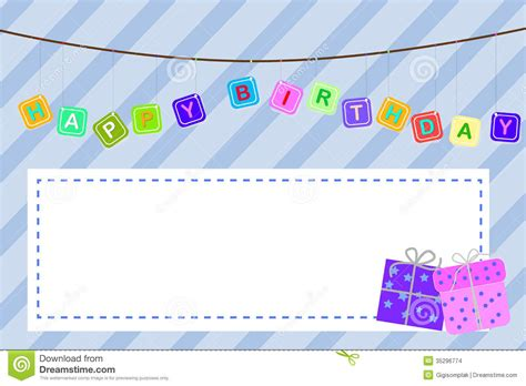 birthday card from baby template template baby birthday greeting card stock vector
