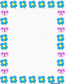 lined paper with spring border 7 best images of free printable spring paper free
