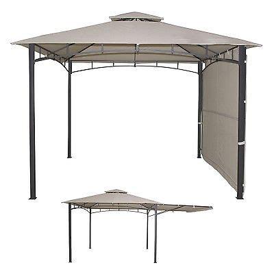 luxus pavillon luxus pavillon mit klappbaren seitenteil 3 x 3 m garten
