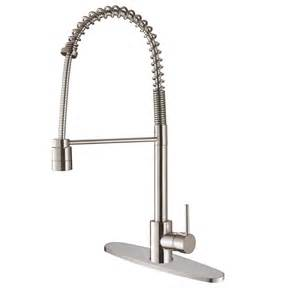 Industrial Kitchen Faucet Ruvati Rvf1210b1st Commercial Style Pullout Spray Kitchen Faucet With Deck Plate Stainless