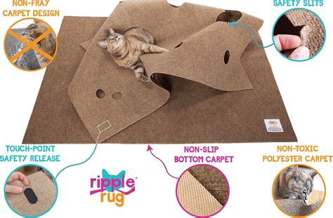 cat activity rug snugglycat ripple rug cat activity play mat chewy