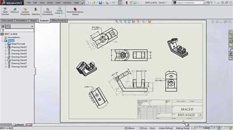 solidworks tutorial nederlands 2014 solidworks 2014 tutorial the drawing environment youtube