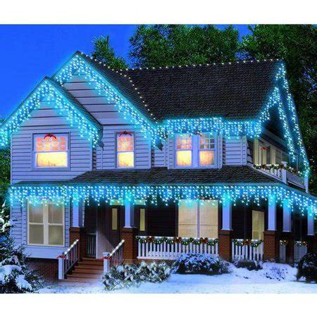 christmas lights at walmart time icicle lights blue 300 count walmart