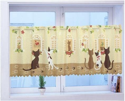 cat curtains kitchen popular cat kitchen curtains buy cheap cat kitchen