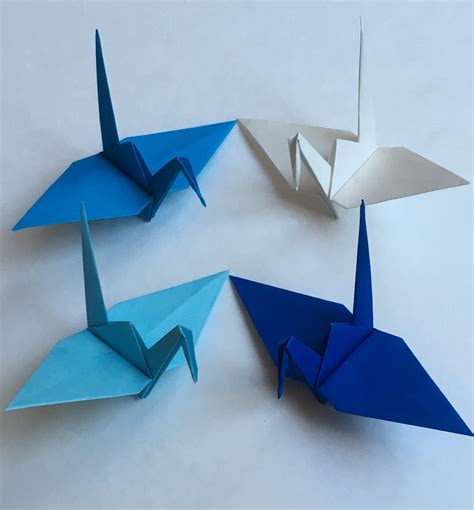 Large Origami Paper - 100 large size winter origami cranes japanese paper cranes