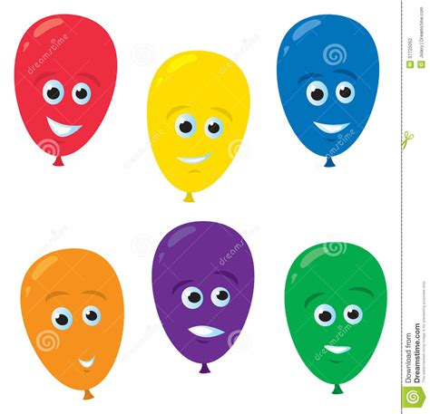 Cartoon balloon faces stock vector image of funny decoration 37725052