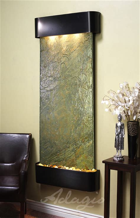 modern wall fountains the inspiration falls wall water feature modern indoor