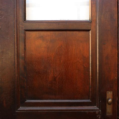 Antique Exterior Doors For Sale Handsome Antique Mahogany Exterior 30 Doors With Glass Ned75 For Sale Antiques