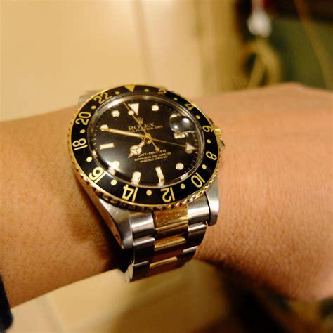 Jam Replika Rolex Gmt Master Ll All Gold Steel Black Swiss Eta 11 vintage hong kong 二手錶 香港二手錶 二手rolex vintage