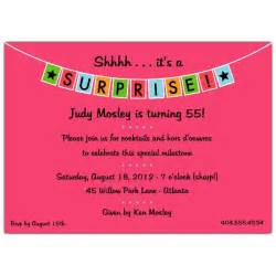 banner pink surprise party invitations paperstyle