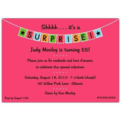surprise birthday party invitations templates drevio