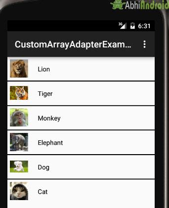 android studio layoutinflater custom arrayadapter tutorial with exle in android studio