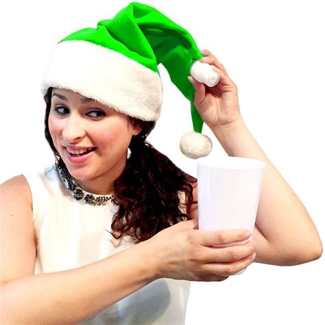 santa hat flask the green head