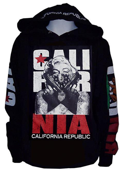 Hoodie Marilyn 02 1 masked marilyn gangster pullover sweater hoodie california republic m ebay