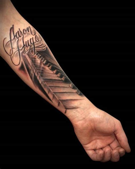 piano tattoo 22 beautiful forearm tattoos free premium templates
