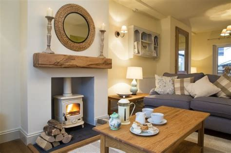 Living Room Ideas Log Burners Cosy And Luxurious Sitting Room At Plum Tree Cottage
