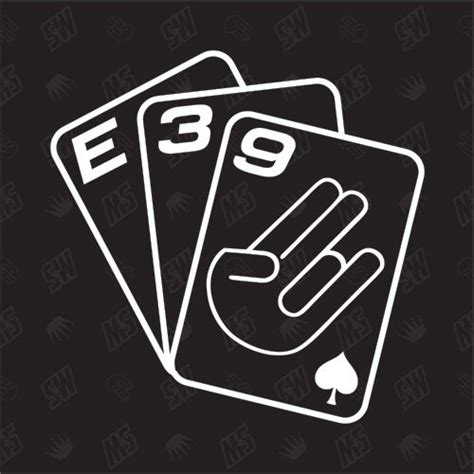 Bmw Aufkleber Ebay by Spielkarten E39 Tuning Sticker Shocker Fun Auto