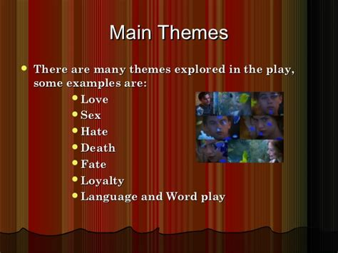 list themes of romeo and juliet romeo and juliet powerpoint