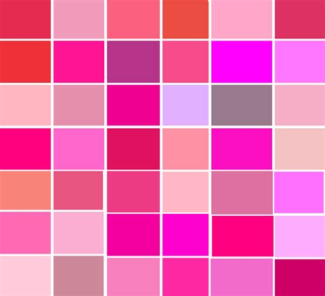 shades of pink color list of top quot pink quot products