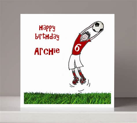 football birthday cards to make personalised football boy s birthday card by molly moo