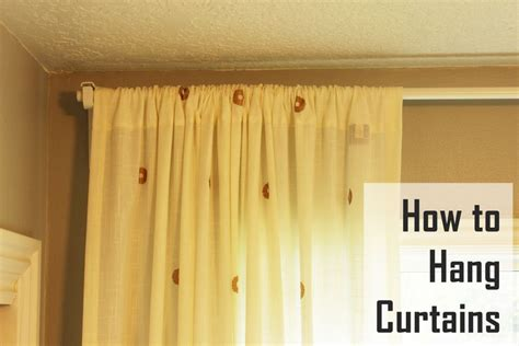 hanging curtains how to hang curtains a basic guide