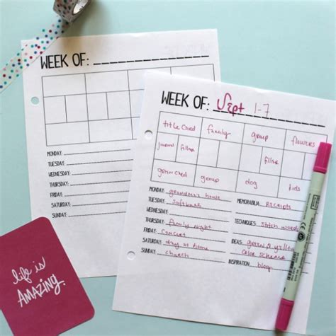 planner printables ideas time to get organized 20 diy planner ideas and