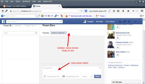 fb masuk bagaimana caranya mengirim pesan kesemua teman facebook