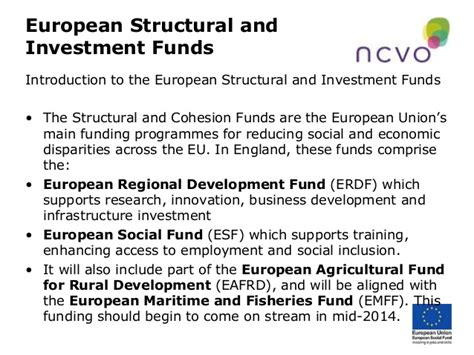 list of eu funding and european funds and grants for future of structural funds in england where are we now