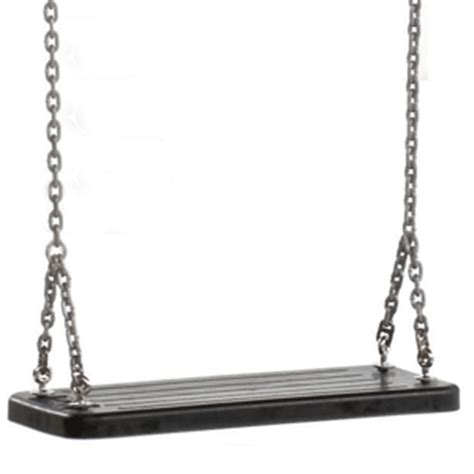 swing with chain commercial rubber swing seat with chain