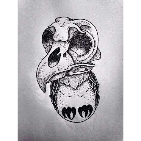 new school skull tattoo design skull owl new school design drawing dotwork