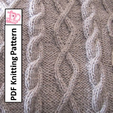 knit cable pdf knitting pattern cable knit blanket patterndiamonds and