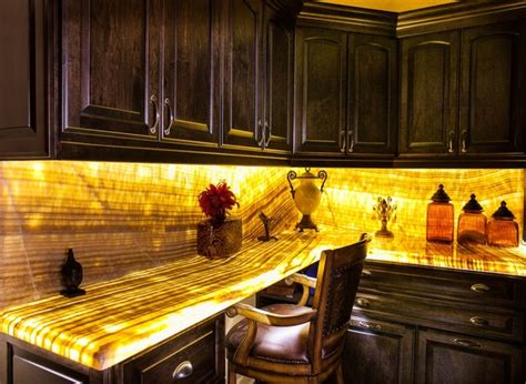 Lighted Onyx Countertops by Honey Vein Cut Onyx Laundry Counter Led Back Lighted