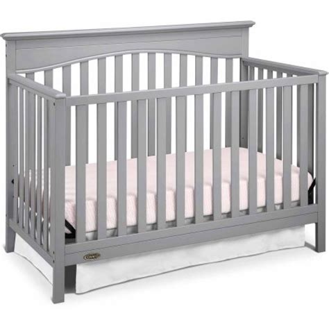 Graco Hayden 4 In 1 Convertible Fixed Side Crib Pebble Gray Convertible Crib