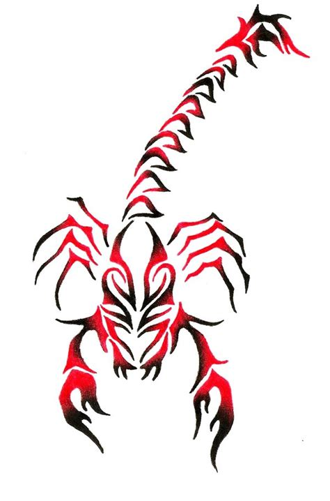 tribal scorpion tattoos designs design designs by dorothy