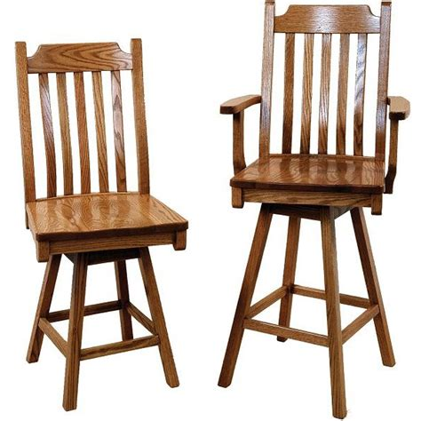mission bar stools swivel 86 mission 5 slat swivel bar stool amish crafted furniture