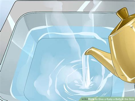 how to bathe baby in sink 3 ways to give a baby a bath in the sink wikihow