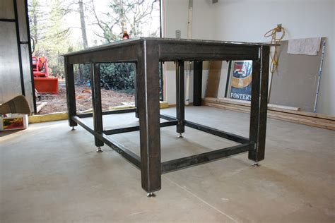 homemade metal work bench homemade steel welding bench