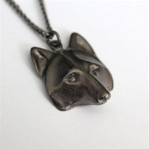 wolf pendant necklace black gunmetal wolf 2009
