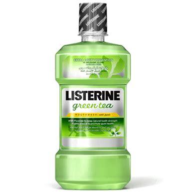 listerine green tea mouthwash mouthwash  fluoride