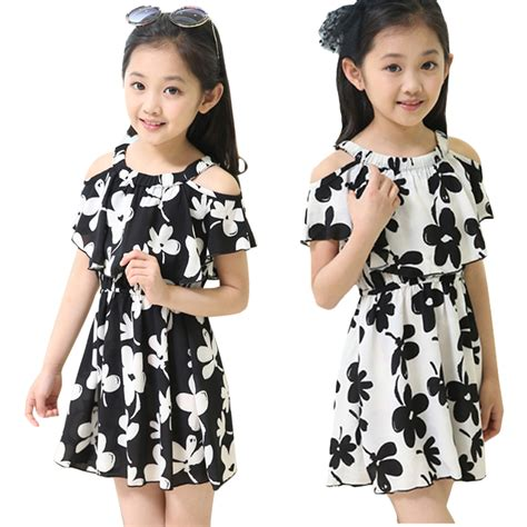 clothes for summer dresses for soft chiffon children clothing