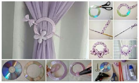 cd curtain how to make curtains holder of old cd art craft ideas