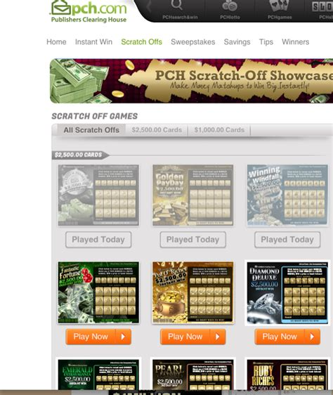 Pch Scratch Off - same scratch cards at pch still mean new chances to win pch playandwin blog