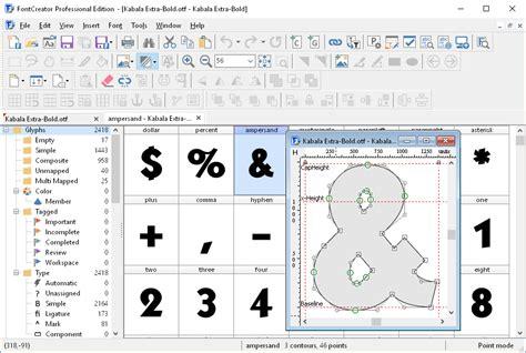 typography editor fontcreator the most popular font editor