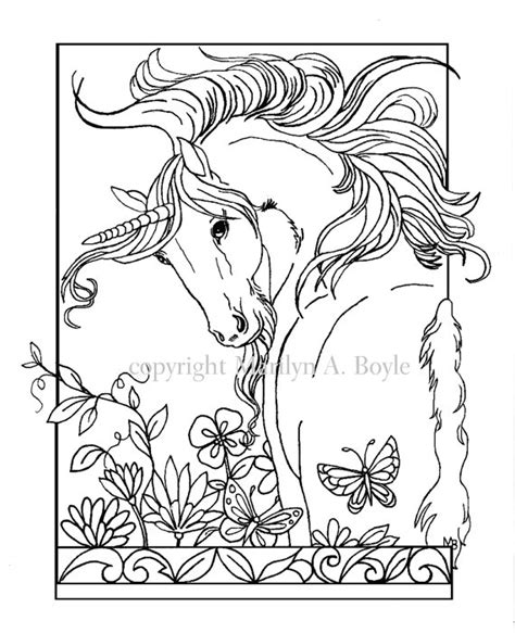 unicorn coloring pages for adults coloring page digital unicorn by
