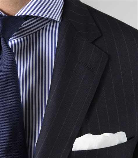 Square Suit style inspiration with white pocket squares
