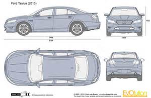 Ford Taurus Dimensions The Blueprints Vector Drawing Ford Taurus