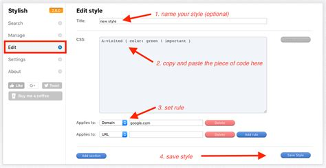 css visited link color how to change color of visited links in chrome firefox
