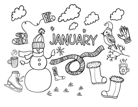 january coloring pages printable janurary calendar 2016 printable calendar template 2016